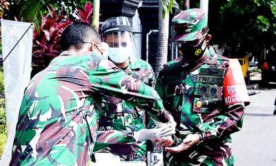 Terima paparan penanganan Covid-19, Pangdam Suharyanto apresiasi Jajaran Korem 083/Baladhika Jaya.