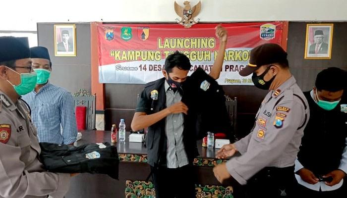 Polsek Prenduan launching Kampung Tangguh Narkoba di 14 desa.