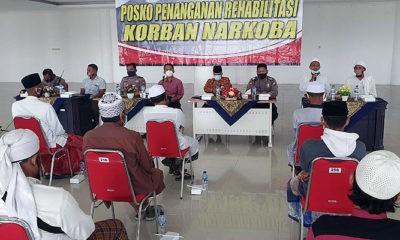 Penutupan program rehabilitasi penyalahguna narkoba di Islamic Center Sumenep.