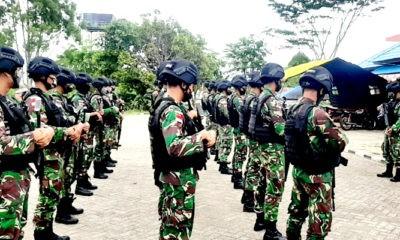 Pilkada Boven Digoel Diundur, Satgas Pamtas Yonif Mekanis 516/CY tetap Siaga.
