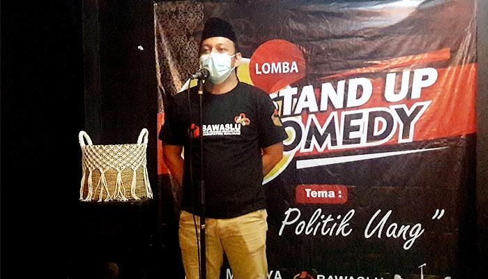 Bawaslu Nunukan gelar lomba Stand Up Comedy Anti Money Politik.