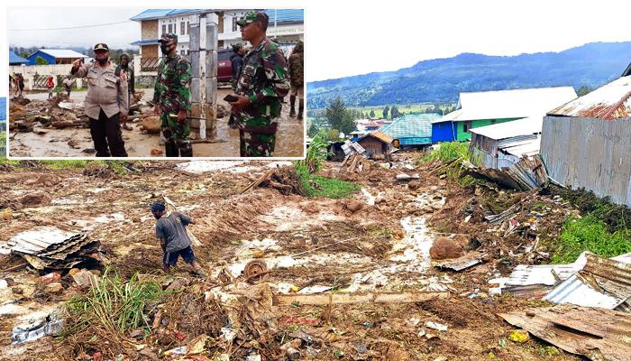 Banjir bandang landa Distrik Paniai Timur Papua.