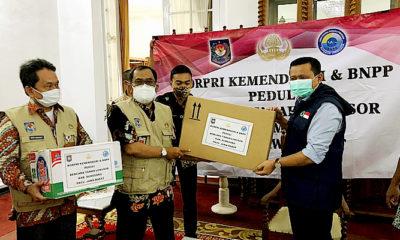 Kemendagri serahkan bantuan untuk korban terdampak bencana alam di Kabupaten Sumedang, Jawa Barat.