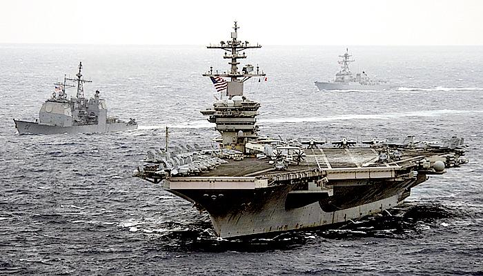 CSG Theodore Roosevelt berlalu, Cina kerahkan kapal perang di Laut Cina Selatan.