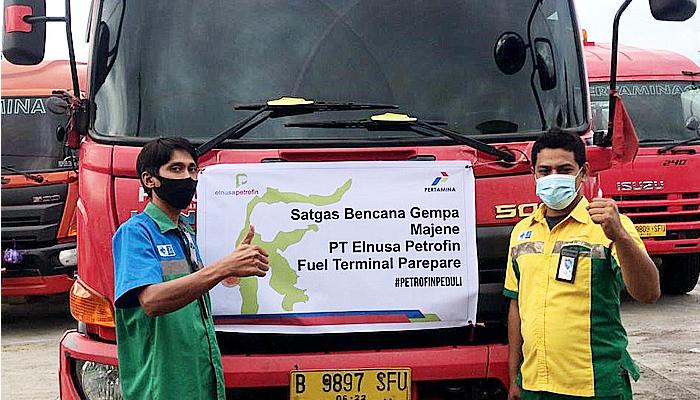 Elnusa Petrofin tetap distribusikan BBM dan bantuan logistik di daerah gempa Majene.