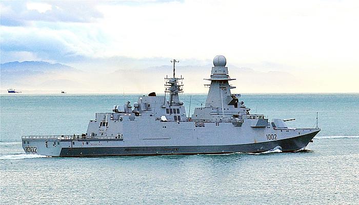 Fregat kelas Bergamini pertama pesanan Mesir tiba