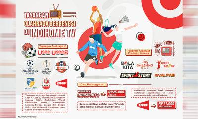 Telkom kembali hadirkan tayangan olahraga bergengsi melalui Channel Usee Sports di IndiHome TV.
