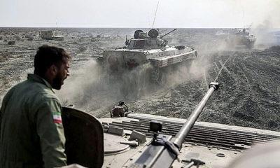 Angkatan Darat Iran tatihan serangan kombinasi amfibi.