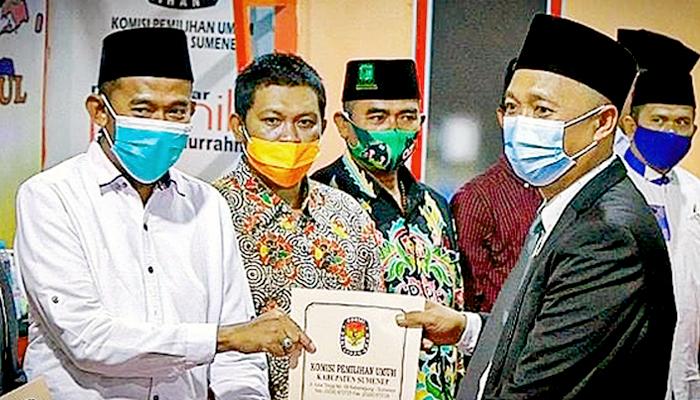 KPU Sumenep tetapkan pasangan Fauzi-Nyai Eva pemenang Pilbup 2020