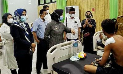 Bupati Nunukan akan tanggung pengobatan para korban kebakaran.