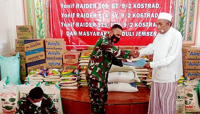 Aksi peduli sosial prajurit Kostrad, dipimpin Danbrigif Raider 9.