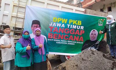 Jember diterjang banjir bandang, PKB Jatim gerojok bantuan kemanusiaan.