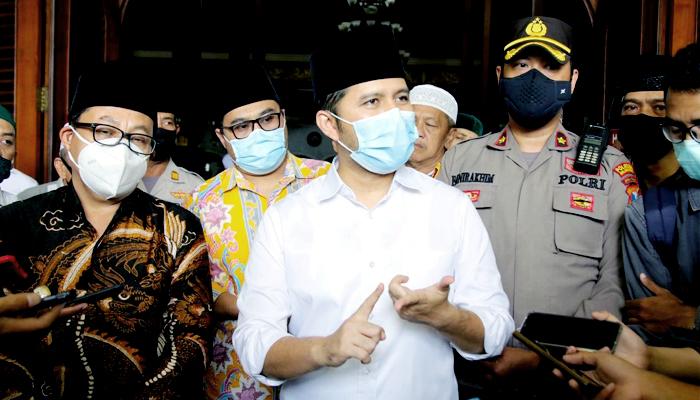 Jumatan di Malang, Wagub Jatim sosialisasi PPKM.