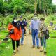 Pengurus Yayasan dan Rektor Unkris berziarah ke makam para pendiri.