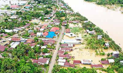 Banjir di Kabupaten Nunukan rendam 533 rumah warga.