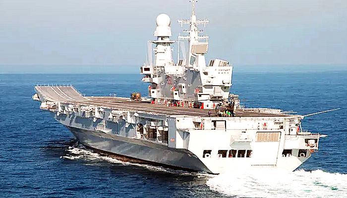 """Kapal Induk Italia """"Cavour"""" akan memulai kualifikasi F-35B bulan depan."""
