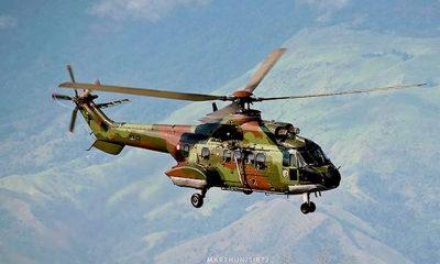 TNI AU terima helikopter Angkut Berat Super Puma produksi PTDI.