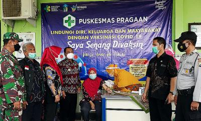 Tangkal berita hoax di medsos, Camat Pragaan dukung pelaksanaan vaksinasi Covid-19.