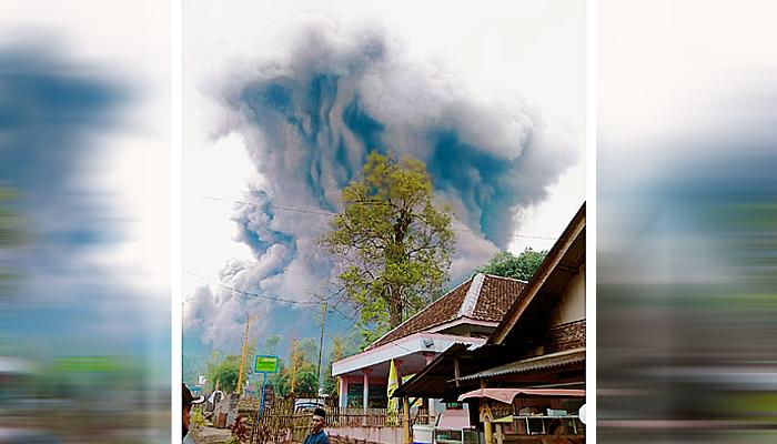 Semeru erupsi lagi, warga di radius 1 Km diminta waspada.
