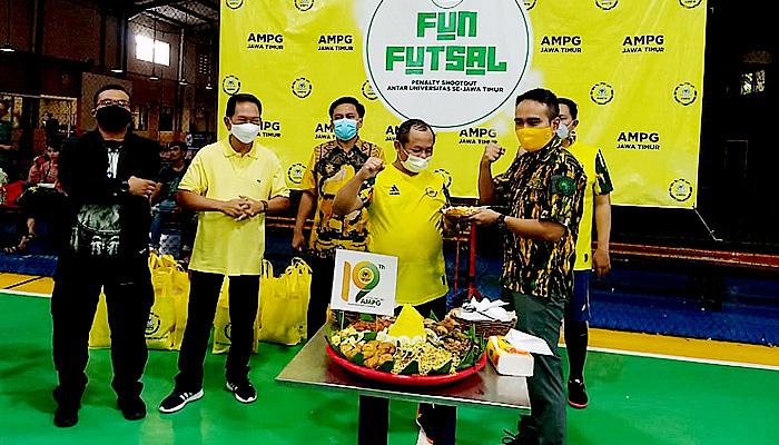 Hut Ke-19, AMPG Jatim gelar Fun Futsal Penalty Shoot Out.