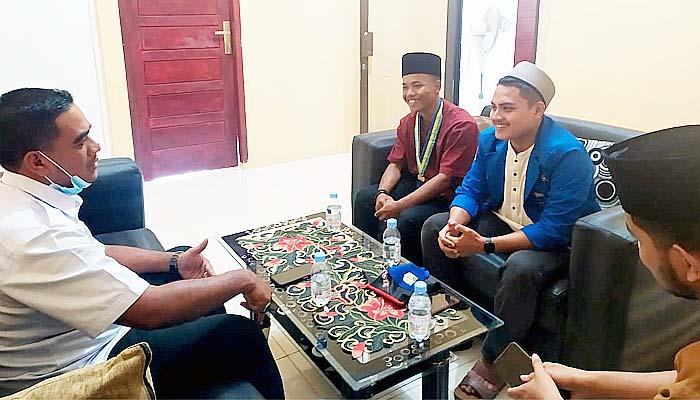 BNNK Pidie Jaya terima kunjungan silaturahmi PC PMII Pidie Jaya.