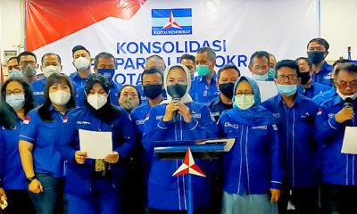 Ikrar Setia di bawah Kepemimpinan AHY, Demokrat Surabaya Tolak KLB.