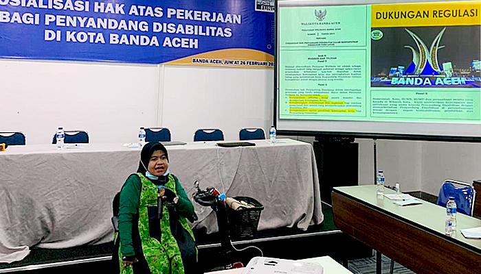 CYDC Gelar sosialisasi agar tenaga kerja disabilitas mendapat pekerjaan layak di Kota Banda Aceh.