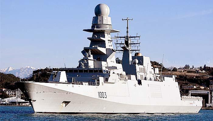 Fregat canggih bergamini class kedua Mesir mulai uji coba laut.