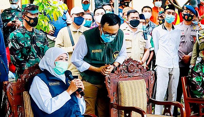 Gubernur Jatim salurkan bantuan pada korban longsor Ponpes Pamekasan.
