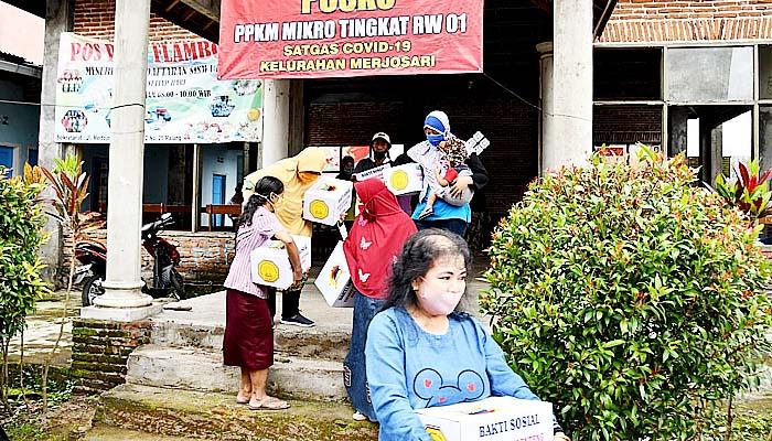 ompak, Korem dan Kodim Kota Malang bersatu gelar karya bakti.