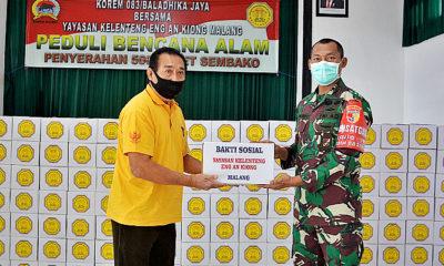 Peduli bencana alam, 500 paket sembako siap disalurkan oleh pihak Korem 083/Baladhika Jaya