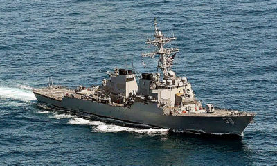 USS John McCain kembali melintas Selat Taiwan.