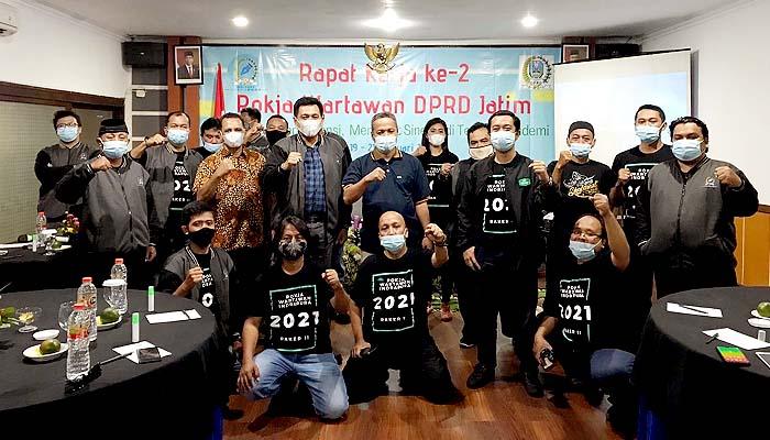 Gelar Raker 2, Wartawan DPRD Jatim jaga independensi merawat sinergi di tengah pandemi.