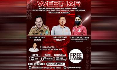 HMI Komisariat Tarbiah Cabang Tarakan gelar Webinar penyaluran baksos.