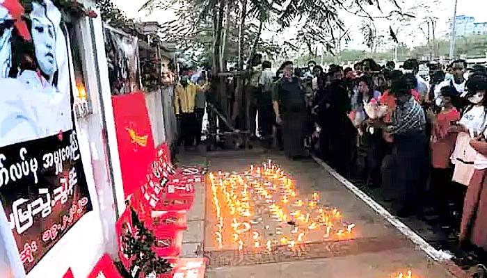 Unjuk rasa di Myanmar meningkat menyusul korban tewas pertama.