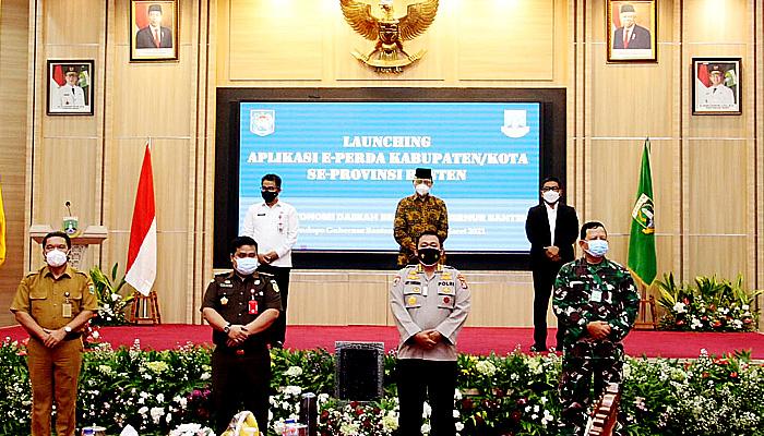 Launching aplikasi e-Perda di Banten, Kemendagri dukung pembentukan perda yang cepat dan transparan.