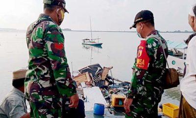Korban kapal meledak berhasil dievakuasi Babinsa Sumenep.