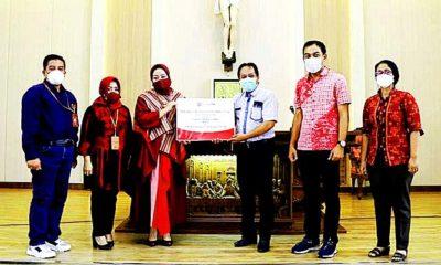 Bank Jatim gelontor bantuan CSR untuk prasarana Gereja di Madiun.