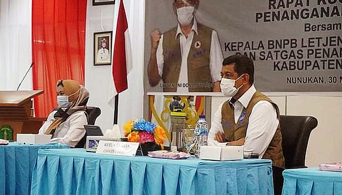 Pentingnya menjaga perbatasan, BNPB bantu 2 mesin PCR ke Pemkab Nunukan.