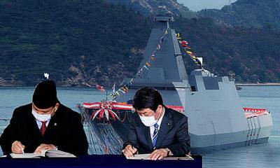 Jepang-Indonesia tandatangani pakta transfer teknologi dan senjata ke Indonesia pada hari Selasa.