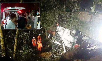 Tragis, bus pariwisata masuk jurang di Sumedang, 26 pelajar tewas.