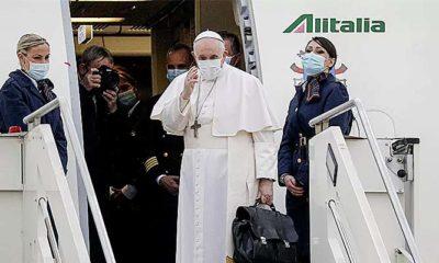 Ayatollah Sistani Irak bertemu Paus Francis di Najaf.