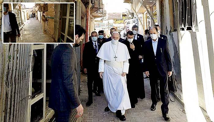 Paus Fransiskus bertemu Ayatullah Ali al-Sistani di Kota Suci Najaf dalam perjalanan ziarahnya.