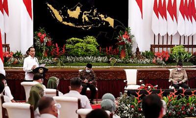 Presiden buka Rakornas Penanggulangan Bencana 2021.