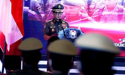 Tantangan Satpol PP dan Satlinmas perlu menjaga kepuasan publik/Foto: Menteri Dalam Negeri (Mendagri) Muhammad Tito Karnavian saat menghadiri syukuran HUT Satuan Polisi Pamong Praja (Satpol PP) ke-71 dan HUT Satuan Perlindungan Masyarakat (Satlinmas) ke-59, di Hotel Arya Dhuta, Rabu (3/3).