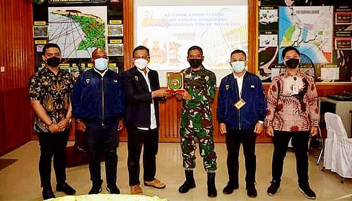 Korem 174 Merauke siap dukung kelancaran pelaksanaan PON XX Tahun 2021 di Papua.