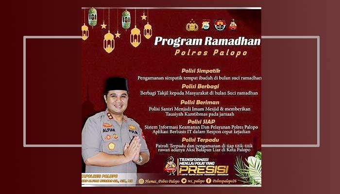 Kapolres Palopo luncurkan 5 program Ramadhan untuk kondusifkan Kota Palopo.
