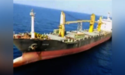 Kapal Kargo Pangkalan Iran diserang di Laut Merah.