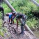 Sinergitas antara TNI dan rakyat di daerah perbatasan Indonesia-Papua Nugini, kian semakin kental.