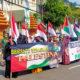 Israel semakin beringas, aksi solidaritas Palestina di Jatim digelar.